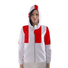 Naval Ensign Of Canada Hooded Windbreaker (women) by abbeyz71