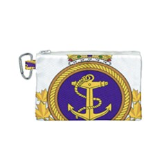 Badge Of Royal Canadian Navy Canvas Cosmetic Bag (small)