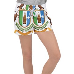 Coat Of Arms Of Puntland Women s Velour Lounge Shorts by abbeyz71