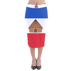 Flag Of Southern Nations, Nationalities, And Peoples  Region Of Ethiopia Velvet Midi Pencil Skirt by abbeyz71
