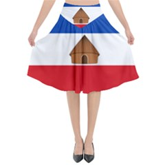 Flag Of Southern Nations, Nationalities, And Peoples  Region Of Ethiopia Flared Midi Skirt by abbeyz71