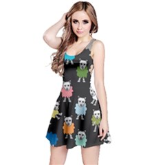 Sheep Cartoon Colorful Reversible Sleeveless Dress