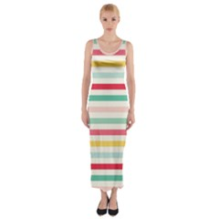 Papel De Envolver Hooray Circus Stripe Red Pink Dot Fitted Maxi Dress