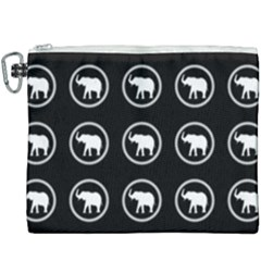 Elephant Wallpaper Pattern Canvas Cosmetic Bag (xxxl) by Jojostore