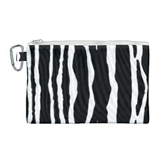Zebra Background Pattern Canvas Cosmetic Bag (large)