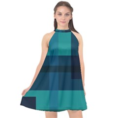 This High Quality Image Is A Bunch Of Different Size Boxes That Are Place Abstractly Halter Neckline Chiffon Dress  by Jojostore