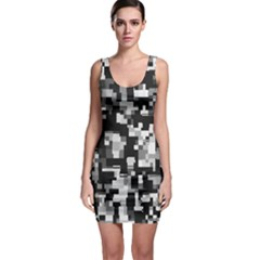 Noise Texture Graphics Generated Bodycon Dress by Sapixe