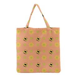 Bee A Bug Nature Wallpaper Grocery Tote Bag
