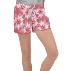 Flower Leaf Nature Flora Floral Women s Velour Lounge Shorts by Sapixe