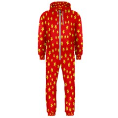 Pattern Stars Multi Color Hooded Jumpsuit (men)  by Sapixe