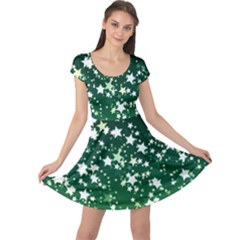 Christmas Star Advent Background Cap Sleeve Dress by Sapixe