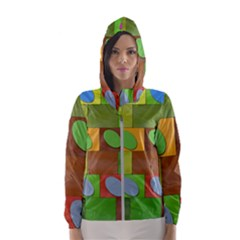 Easter Egg Happy Easter Colorful Hooded Windbreaker (women) by Sapixe