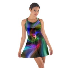 Abstract Art Color Design Lines Cotton Racerback Dress