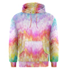 Rainbow Pontilism Background Men s Pullover Hoodie