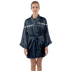 Pinstripe In Diamond Head Pins Pattern Long Sleeve Kimono Robe by emilyzragz