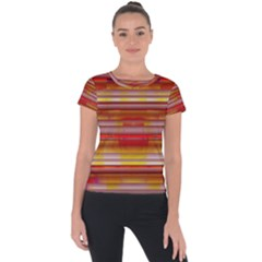 Abstract Stripes Color Game Short Sleeve Sports Top  by Sapixe
