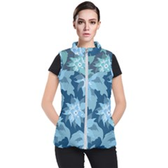 Graphic Design Wallpaper Abstract Women s Puffer Vest