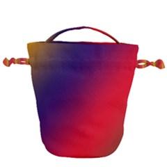 Rainbow Two Background Drawstring Bucket Bag by Jojostore