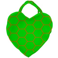 Bee Hive Texture Giant Heart Shaped Tote