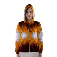 Star Universe Space Galaxy Cosmos Hooded Windbreaker (women) by Sapixe