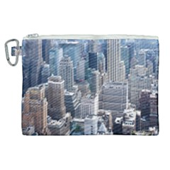 Manhattan New York City Canvas Cosmetic Bag (xl) by Sapixe