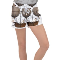 Steampunk Flyer Women s Velour Lounge Shorts by burpdesignsA
