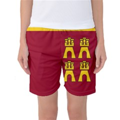 Coat Of Arms Of Murcia Women s Basketball Shorts by abbeyz71