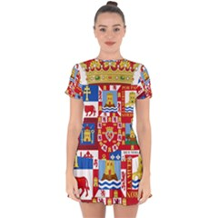 Coat Of Arms Of The Former Province Of Murcia Drop Hem Mini Chiffon Dress by abbeyz71