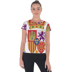Coat Of Arms Of Spain Short Sleeve Sports Top  by abbeyz71