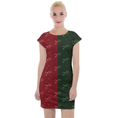 Colour Blocking Botanical Cap Sleeve Bodycon Dress by chihuahuadresses