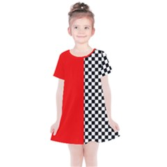 Harajuku Colour Blocking Kids  Simple Cotton Dress by JustKids