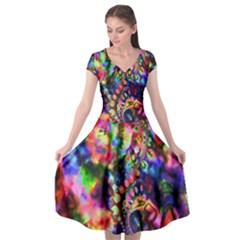 Unicorn Essence Cap Sleeve Wrap Front Dress by KirstenStar