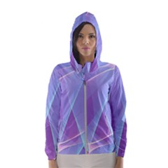 Background Light Glow Abstract Art Hooded Windbreaker (women) by Sapixe