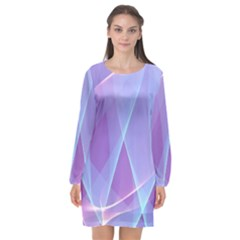 Background Light Glow Abstract Art Long Sleeve Chiffon Shift Dress  by Sapixe