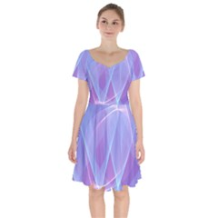 Background Light Glow Abstract Art Short Sleeve Bardot Dress by Sapixe