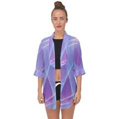 Background Light Glow Abstract Art Open Front Chiffon Kimono by Sapixe