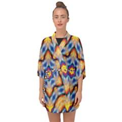 Pattern Abstract Background Art Half Sleeve Chiffon Kimono by Sapixe