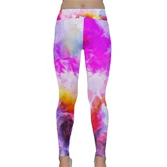 Background Drips Fluid Colorful Classic Yoga Leggings by Sapixe