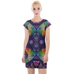 Phronesis Awareness Philosophy Cap Sleeve Bodycon Dress