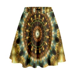 Pattern Abstract Background Art High Waist Skirt