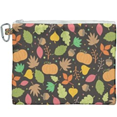 Thanksgiving Pattern Canvas Cosmetic Bag (xxxl) by Valentinaart
