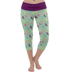 Classics On Mint Capri Yoga Leggings by TwisterSister