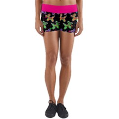 Sugar Skull Dogs Yoga Shorts by TwisterSister