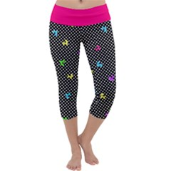 Polka Dogs Capri Yoga Leggings by TwisterSister