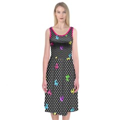 Polka Dogs Midi Sleeveless Dress by TwisterSister