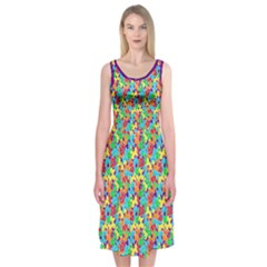 Jam Room Floor Midi Sleeveless Dress by TwisterSister