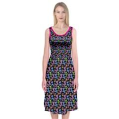 Swirly Pups Midi Sleeveless Dress by TwisterSister