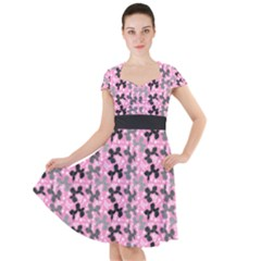Retro Dogs Cap Sleeve Midi Dress by TwisterSister