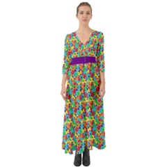 Jam Room Floor Button Up Boho Maxi Dress by TwisterSister