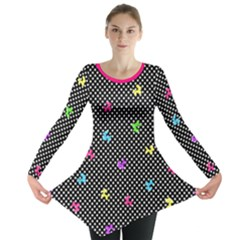 Polka Dogs Long Sleeve Tunic  by TwisterSister